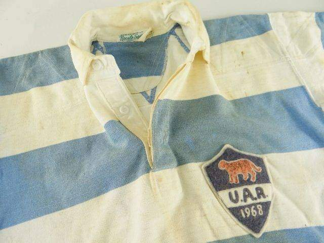 ARGENTINA RUGBY UNION INTERNATIONAL JERSEY MATCH WORN BY RICARDO HANDLEY