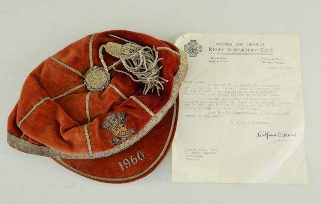 NORMAN GALE 1960 WALES RUGBY UNION CAP CONGRATULATORY LETTER