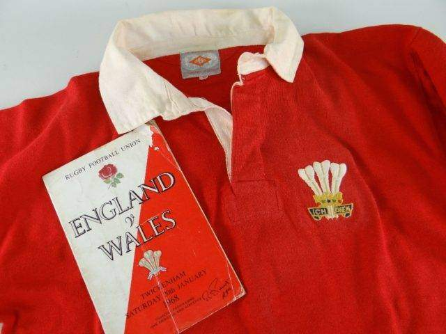 NORMAN GALE MATCH WORN WALES INTERNATIONAL RUGBY UNION JERSEY