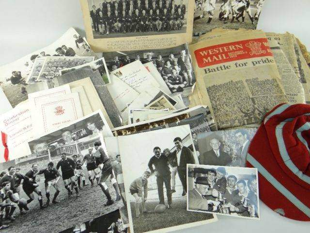 RUGBY UNION EPHEMERA RELATING TO FORMER WALES CAPTAIN NORMAN GALE
