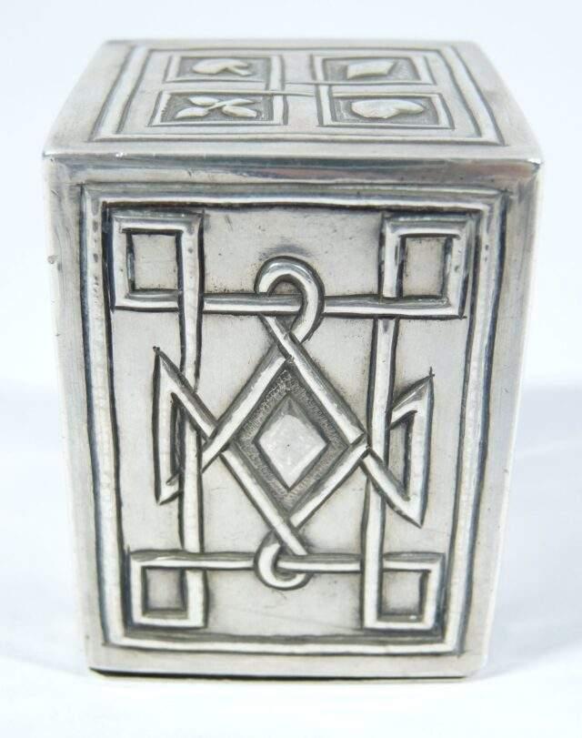 Arts Crafts Silver Card Box