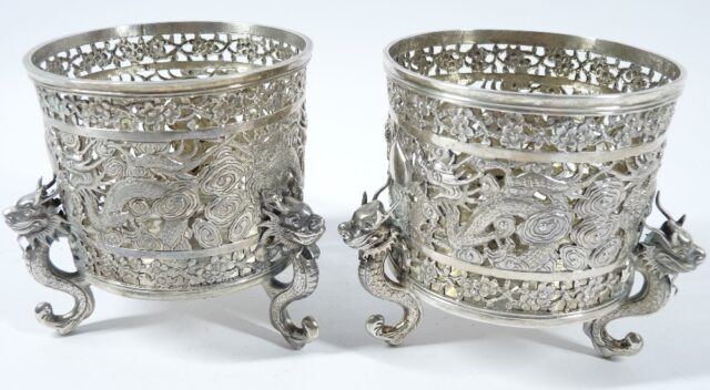 Chinese Silver Bottle Stands