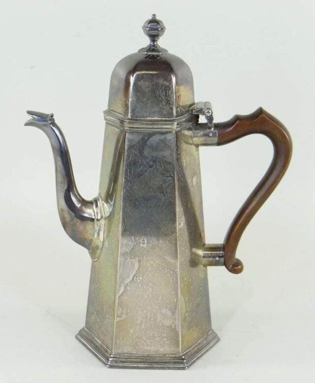 George VI Hexangonal Coffee Pot