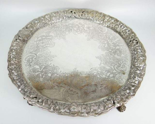 Victorian Silver Tray