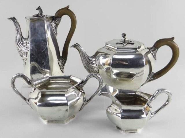 William IV Irish Silver Tea Set