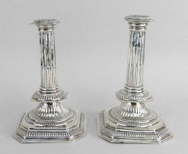Britannia Silver Candlesticks