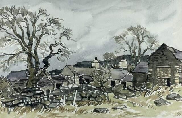 Sir Kyffin Williams RA Watercolour Old Eryri Farmstead