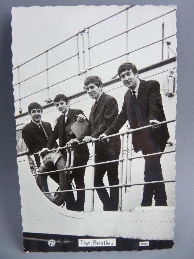 The Beatles Signed Card