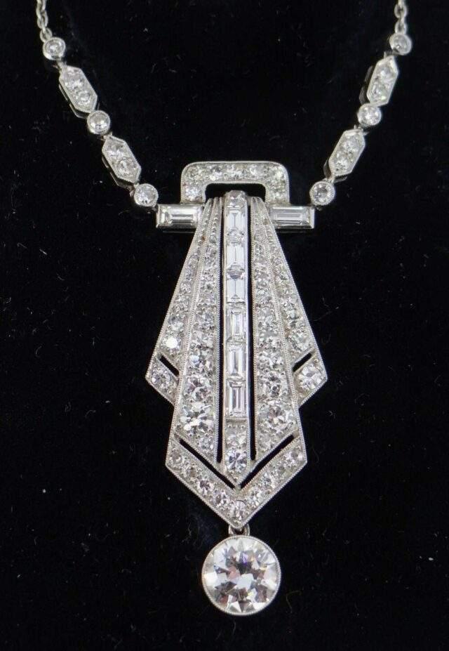 Art Deco Diamond Encrusted Pendant