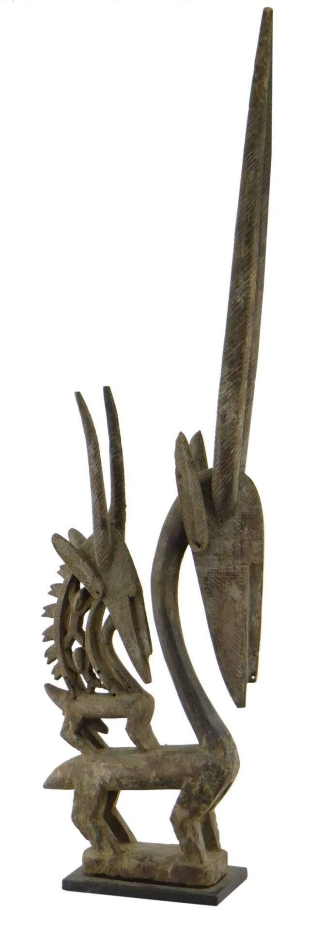 Bamana Chiwara female antelope crest
