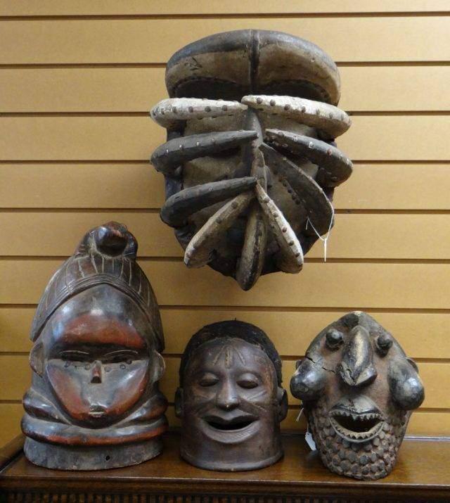 African helmet masks