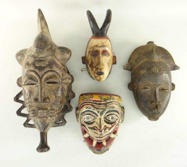 Three baule masks