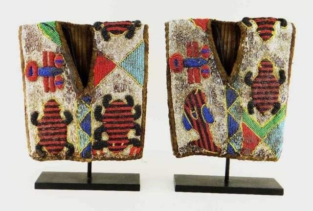 Pair of Yoruba beaded Ibeji jackets JACKETS NIGERIA 210