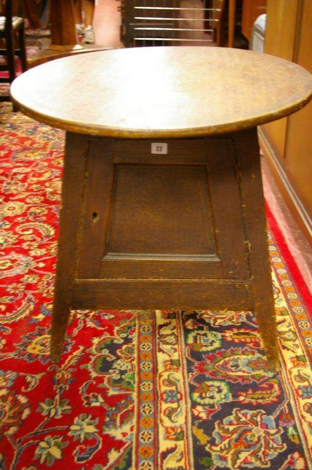 Cricket Table with Cupboard