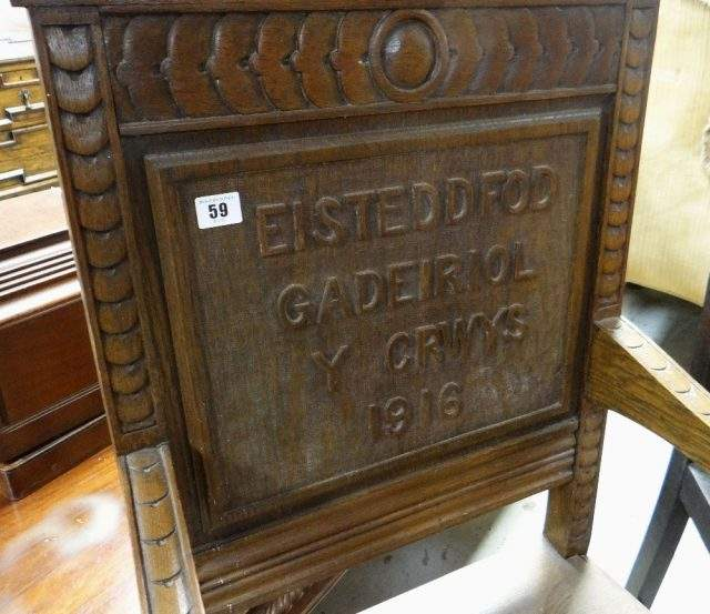 1916 Eisteddford Chair