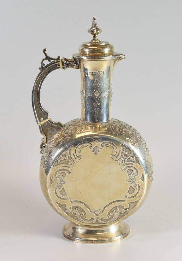 Persian-style Silver Claret Jug