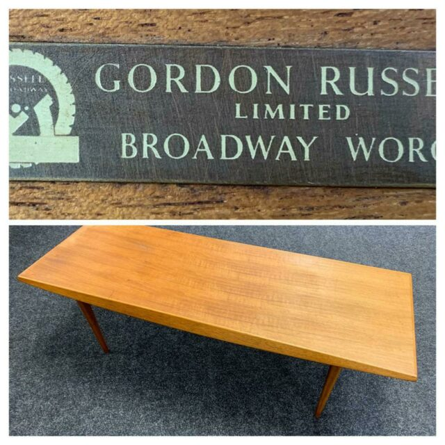 Gordon Russell teak coffee table £80-120
