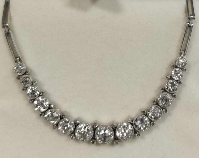 Superb diamond necklace