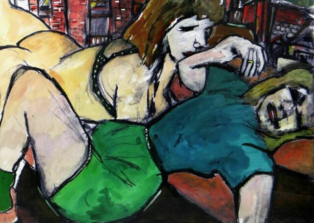 BOB DYLAN limited edition (180/295) giclee on paper print from the 'Drawn Blank' series - 'Two Sisters', 103 x 129cms