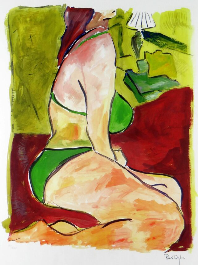 BOB DYLAN limited edition (180/295) giclee on paper print from the 'Drawn Blank' series - 'Woman on a Bed', 47 x 57cms