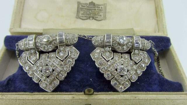 Art Deco Diamond Brooch 2700