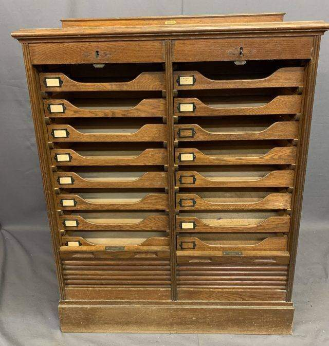 Tambour office cabinet